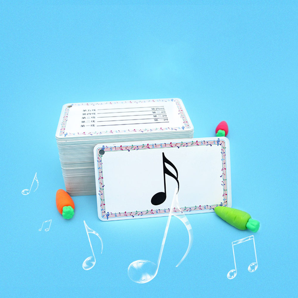 96pcs/set High Quality Waterproof Musical Notation Cards PVC Note Cards Music Teaching Tools
