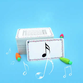 96pcs/set High Quality Waterproof Musical Notation Cards PVC Note Cards Music Teaching Tools - DISCOUNT ITEM  0% OFF All Category