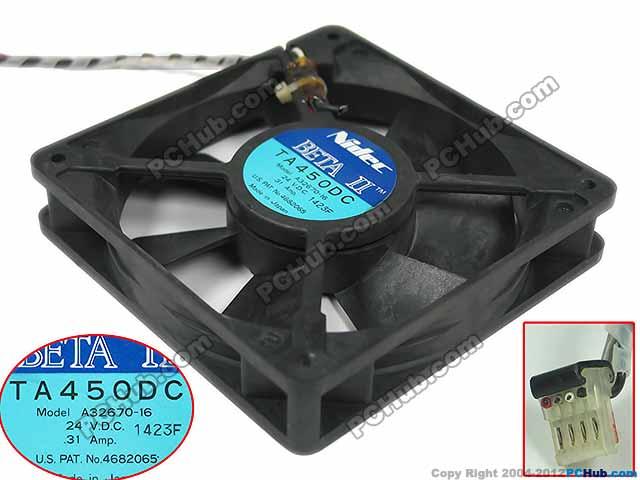 Nidec A32670-16 DC 24V 0.31A 2-wire 120x120x25mm Server Square  Fan emacro for nonoise a8025h24b server square fan dc 24v 0 095a 80x80x25mm 2 wire