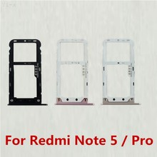 SIM Card Tray Holder Micro SD Card Slot Holder Adapter for Xiaomi Redmi Note 5 / Note5 Pro(China)