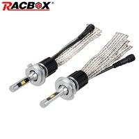 RACBOX Pair LED Headlight Bulb Light Lamp Kit H1 H7 H8 H9 H11 9005 HB3 9006