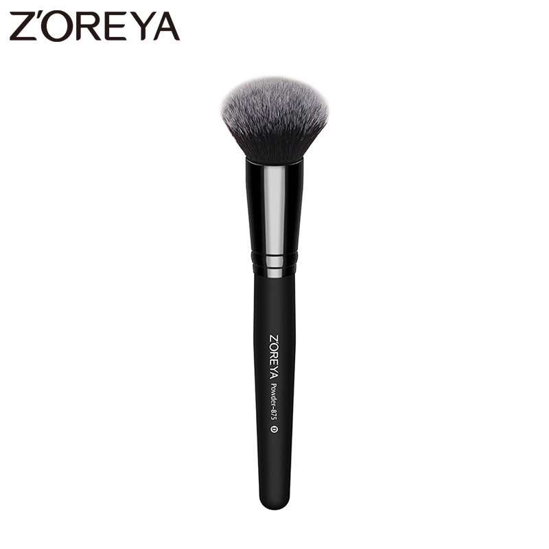 Zoreya Brand Beauty Powder Brush Makeup Brushes  Foundation Round Make Up Cosmetics wooden Brushes Soft hair to face Makeup professional makeup brush flat top brush foundation powder beauty cosmetic make up brushes tool wooden kabuki