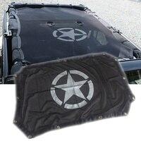 Seyahat Sezon 2/4 Kapılar Güneşlik Çatı Gölge Net üst Kapak UV Koruma Jeep Wrangler Unlimited JK için Uygun aksesuarları