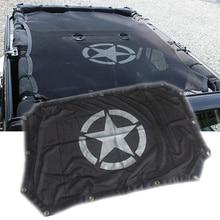 Viajes Temporada 2/4 Puertas Techo Parasol Shade Net superior Cubierta de Protección UV Adecuado para Jeep Wrangler Unlimited JK accesorios