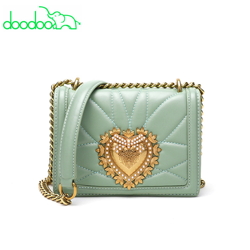 2018 Luxury Design Locks Shoulder Crossbody Bag Women Party Clutch Heart Pattern Bag Women Leather Handbags Chain Messenger Bags baseus little devil case for iphone 7 plus black