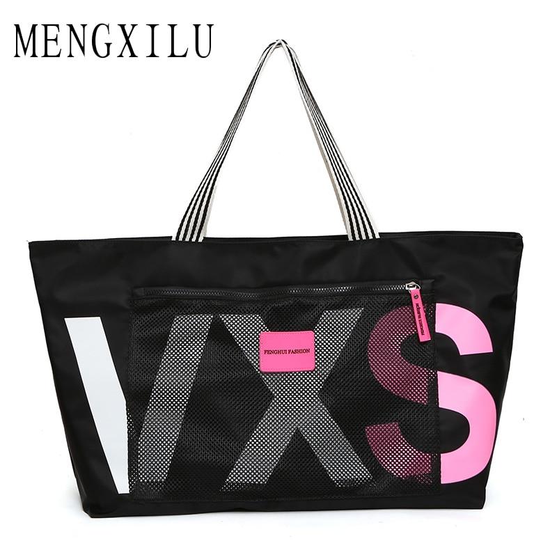 MENGXILU New Ladies Black Travel Bag Sequins Shoulder Bag Handbag Womens Handbag Ladies Weekend Waterproof Portable Wash Bag цена 2017