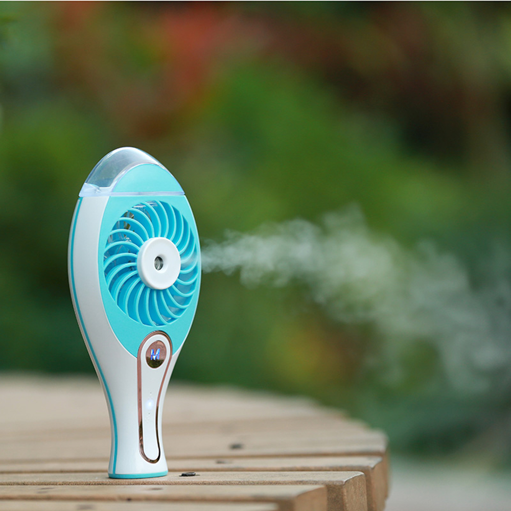 Portable Fan Air Conditioner Portable Air Cooler Table Fan For Home Office Outdoor Handheld Mini Fan Spray Water Re Charging new portable outdoor mini fans with led lamp light table usb fan spray water humidifier personal air cooler conditioner for home