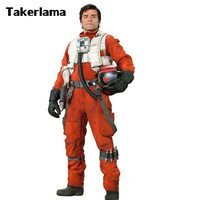 Newest X Wing Rebel Fighter Pilot Jumpsuit + White Flak Vest Star Wars Cosplay Costumes S XXL