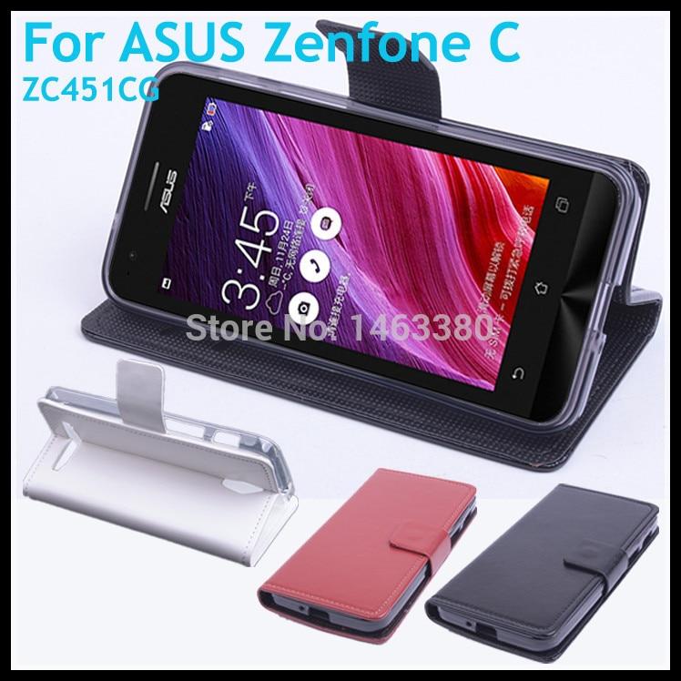 premium selection de001 e6a49 US $9.99 |Leather Case For ASUS Zenfone C ZC451CG Flip Cover Case With Card  Slot Zen fone C ZenfoneC ZC 451CG Leather Case Phone Cases-in Flip Cases ...