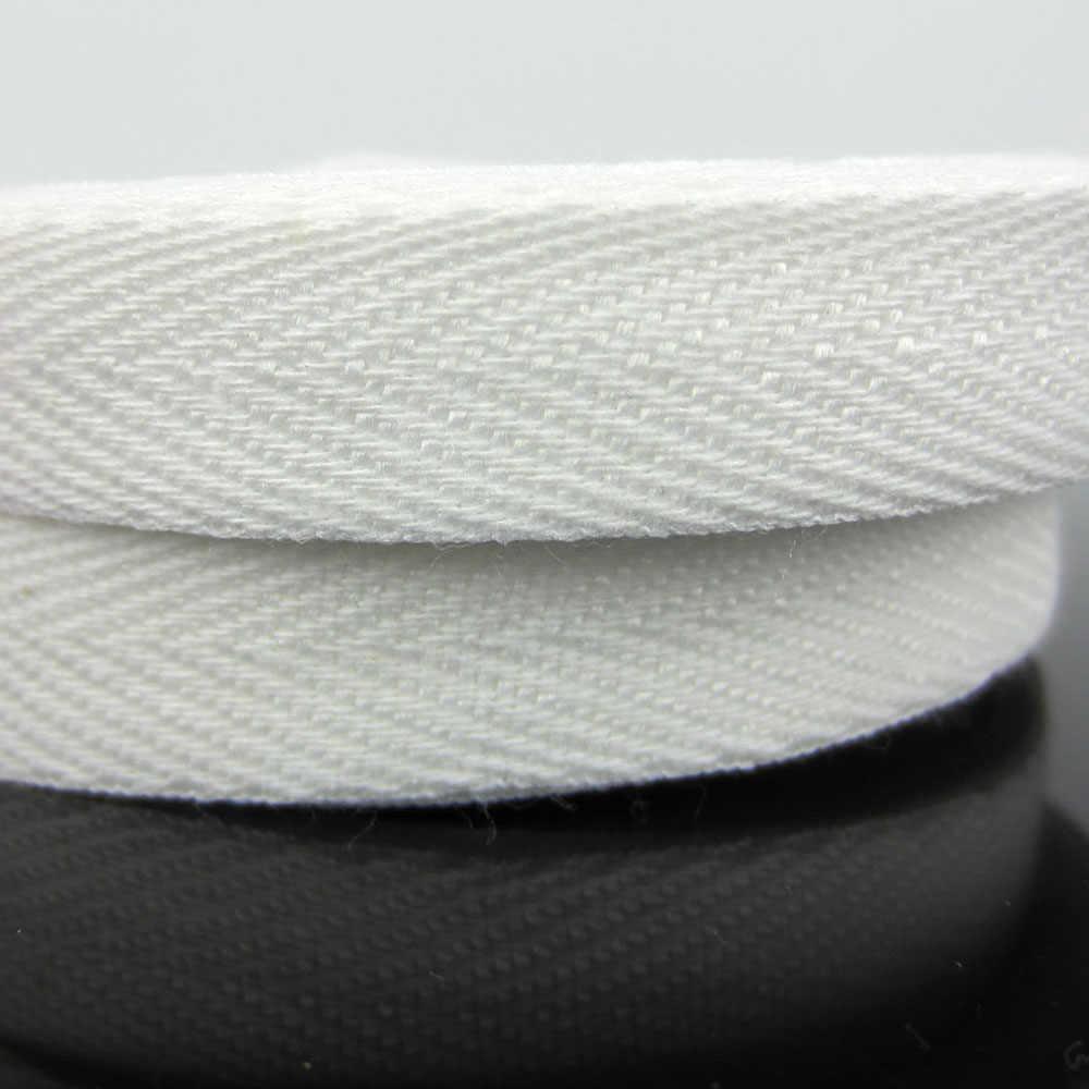 Cinta de encuadernación de algodón de 1/2 pulgadas, 20 yardas, correas diagonales, cinta para manualidades de 13,0mm, lazo de cinta blanca