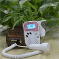 Portable pink fetal doppler home use to detect fetal heart rate monitor baby doppler LCD digital display FHR