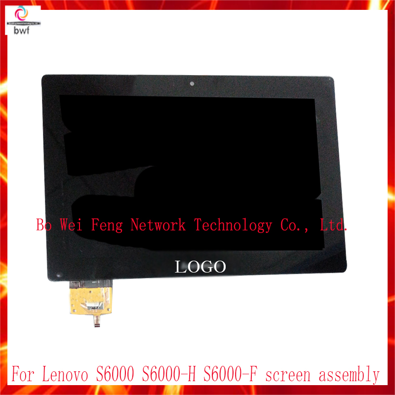 LCD Display+Touch Screen Digitizer Panel Glass Lens Assembly For Lenovo IdeaTab S6000 S6000-H S600 10.1 Replacement Free tool аксессуар чехол lenovo ideatab s6000 g case executive white
