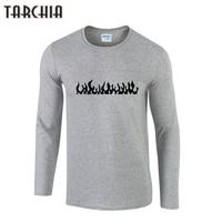 TARCHIIA Hommes Feu Impression T-shirts 2018 Marque Vêtements Coton à Manches longues T-Shirts Homme Slim Fit O-cou Casual T-shirt Homme t-shirts