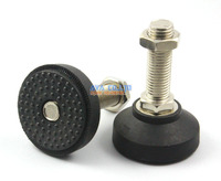 Adjustable Thread 60mm Dia Round Base M16 X 50mm Leveling Foot Mount Pad
