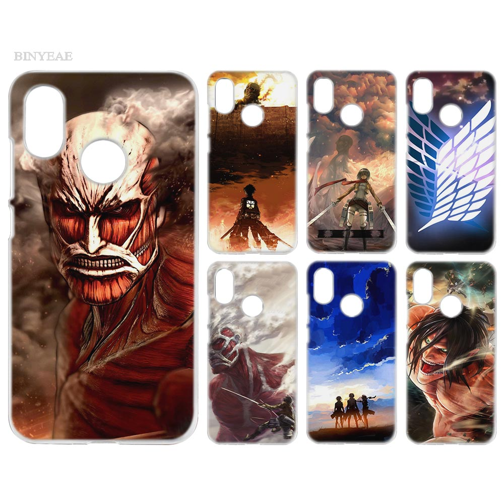 BINYEAE Case Cover Clear Hard PC Plastic for Xiaomi Redmi Note 4 4X 5 Plus A1 S2 A2 8 SE Attack on Titan wings