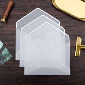 Image 4 - 20pcs/set Hot Stamping Printing Paper Envelope Transparent Sulfuric Acid Paper Envelope Wedding Letter Invitation Anniversary