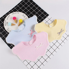New Cotton Flower Baby Girls Bib 360 Round Bibs For Cute Mouth Towel Infant Boys Saliva Clothing