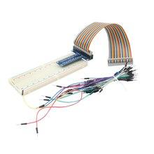 Raspberry Pi 3 GPIO Extension Board +MB-102 830 Point Breadboard + 40 Pin GPIO Cable + Bread Board Jumper Cable For Orange Pi