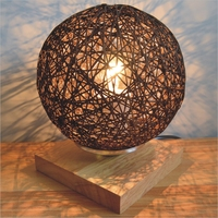 Vintage Hemp Rope Table Lamp Bedroom Study Decorated Antique LED Desk lamp Bedside Light Cafe Bar Restaurant Store Home Decor