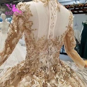 Image 5 - فستان زفاف AIJINGYU غوانزو فستان زفاف رخيص الثمن قوطي جديد شراء في دبي بالإضافة إلى حجم فاخر من التول الأبيض الملكي دبي