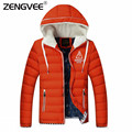 Winter Jacket Men 2016 Stylish Fashion Men High Quality Causal Hooded Thick  Coat Zipper Comfortable Outwear Men