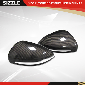 For Mercedes Right Hand Drive Carbon Fiber Rear View Mirror Cover Add On 2014 2015 2016 S Class W222 & C CLASS W205