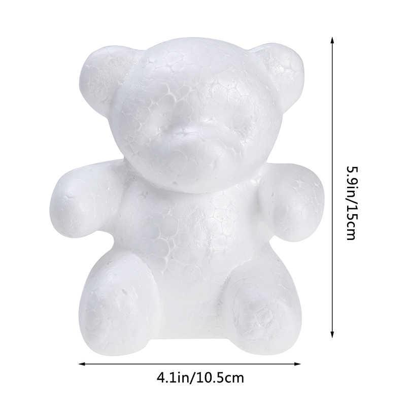 โฟมหมี 1 pcs 200mm การสร้างแบบจำลองโฟม Styrofoam สีขาวหัตถกรรมลูกบอลสำหรับ DIY คริสต์มาสงานแต่งงานตกแต่งคริสต์มาส X