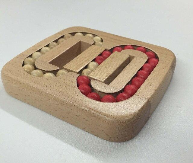 076 Educational Games Toys wooden puzzle IQ brain teaser Chinese Kong Ming Lock /Lu Ban Lock balls