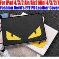 Smart Case For IPad Air/Air2 For iPad mini 4/3/2/1 Fashion Devil s EYE PU Leather Cover for iPad 4/3/2 IM414