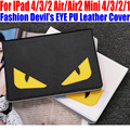 Smart case para ipad air/air2 para ipad mini 4/3/2/1 moda ojo del diablo s cubierta de cuero de la pu para ipad 4/3/2 im414