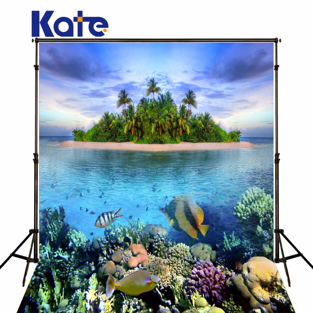 Kate Underwater World Photograph Backgrounds Tropical Forest Island Photographic Backgrounds Photo Backdrops for Photo Studio