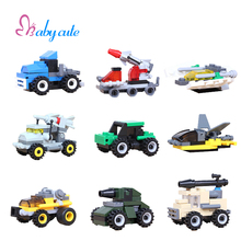 Single Sale Mini Military Vehicle Blocks Missiles Car Plane Tank Figure Bricks Kids Assembly Toys Educational Birthday Gift
