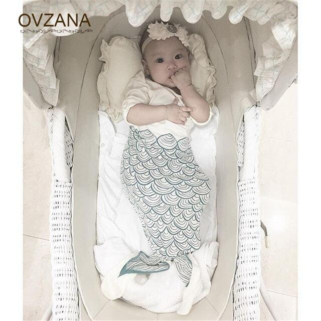 Linda Cola de Sirena Manta para Recién Nacidos Del Bebé Swaddle Wrap ...