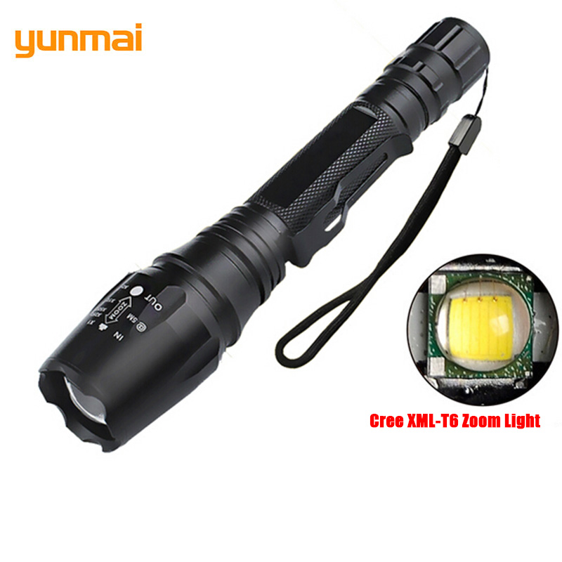 Camping Cree XML-T6 Military Flashlight 5 Modes Clip Torch Lantern Zoomable Power Flash Light Zaklamp LED Mining Torches Lampe sitemap 51 xml