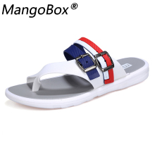 цена на Men Flip Flops Male Slippers Casual Shoes Fashion Beach Sandals 2018 2019 Summer Mens Beach Flip Flops Slippers Sandals Zapatos