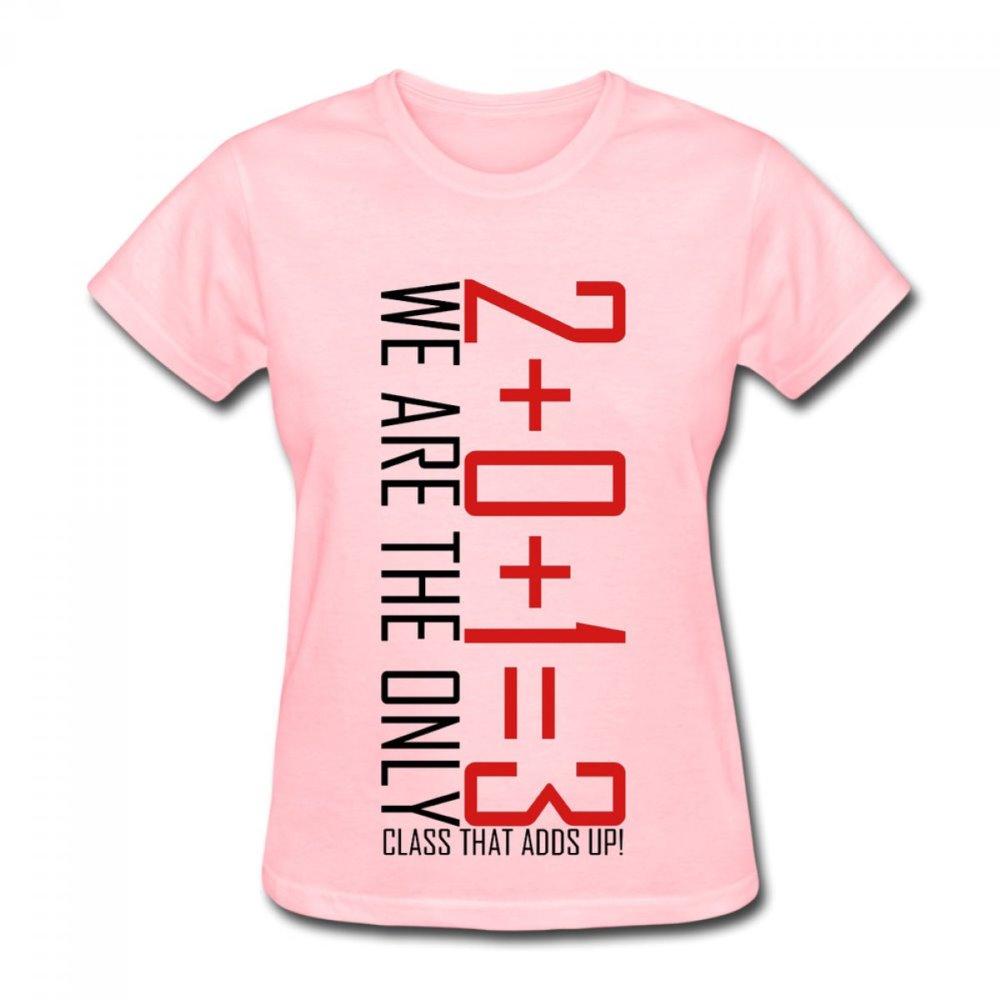 Design t shirt for class - 2013 Class Design Cotton Casual Shirt Top Tee Big Size Summer T Shirt Women