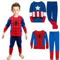 Hot Sale Spiderman Pijamas Kids Sets Long Sleeve Cartoon Spider man Infantil Boy Pajamas set For Baby Sleep Wear Clothing 2-7 y
