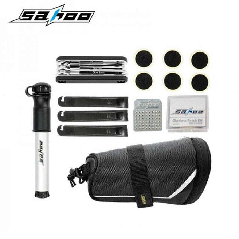 SAHOO Cycling font b Bicycle b font Bike Repair Tools Kit Set with Pump font b