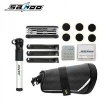 SAHOO Cycling Bicycle Bike Repair Tools Kit Set with Pump Saddle Bag For Bicycle Bike Refit Repair Tool Black