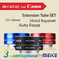 Meike C-AF3A Metal Auto Focus AF Macro Extension Tube Set 10mm 16mm for Canon EOS M Mount Micro DSLR Camera