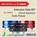 Meike C-AF3A Metal Auto Focus AF Macro Extension Tube Set 10mm 16mm para Canon EOS M Monte Micro Câmera DSLR