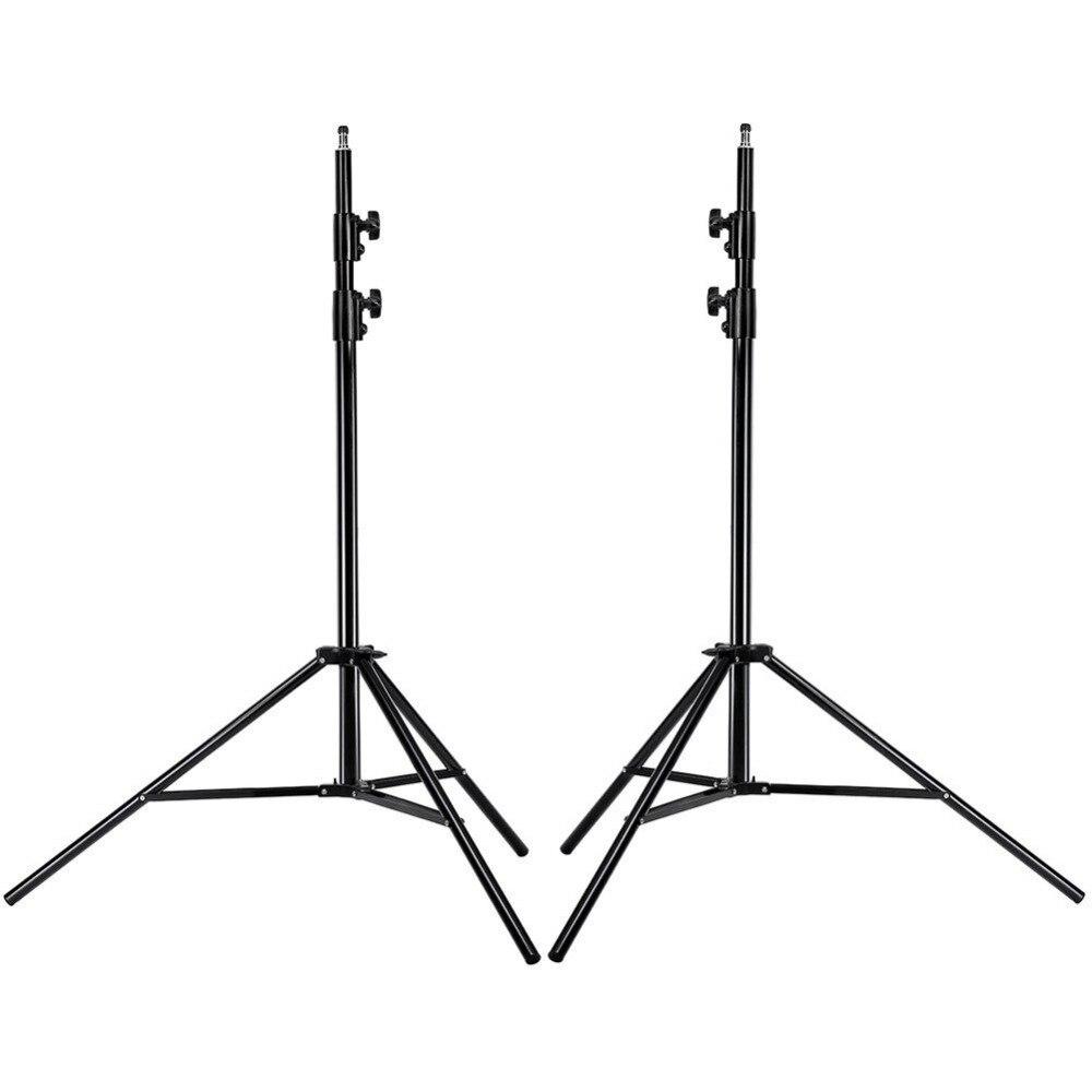 Neewer 2 Pcs Trépied 9 Pieds/260 cm En Alliage D'aluminium Stands De Lumière Kit pour La Photographie Photo Studio Vidéo Portrait photographie