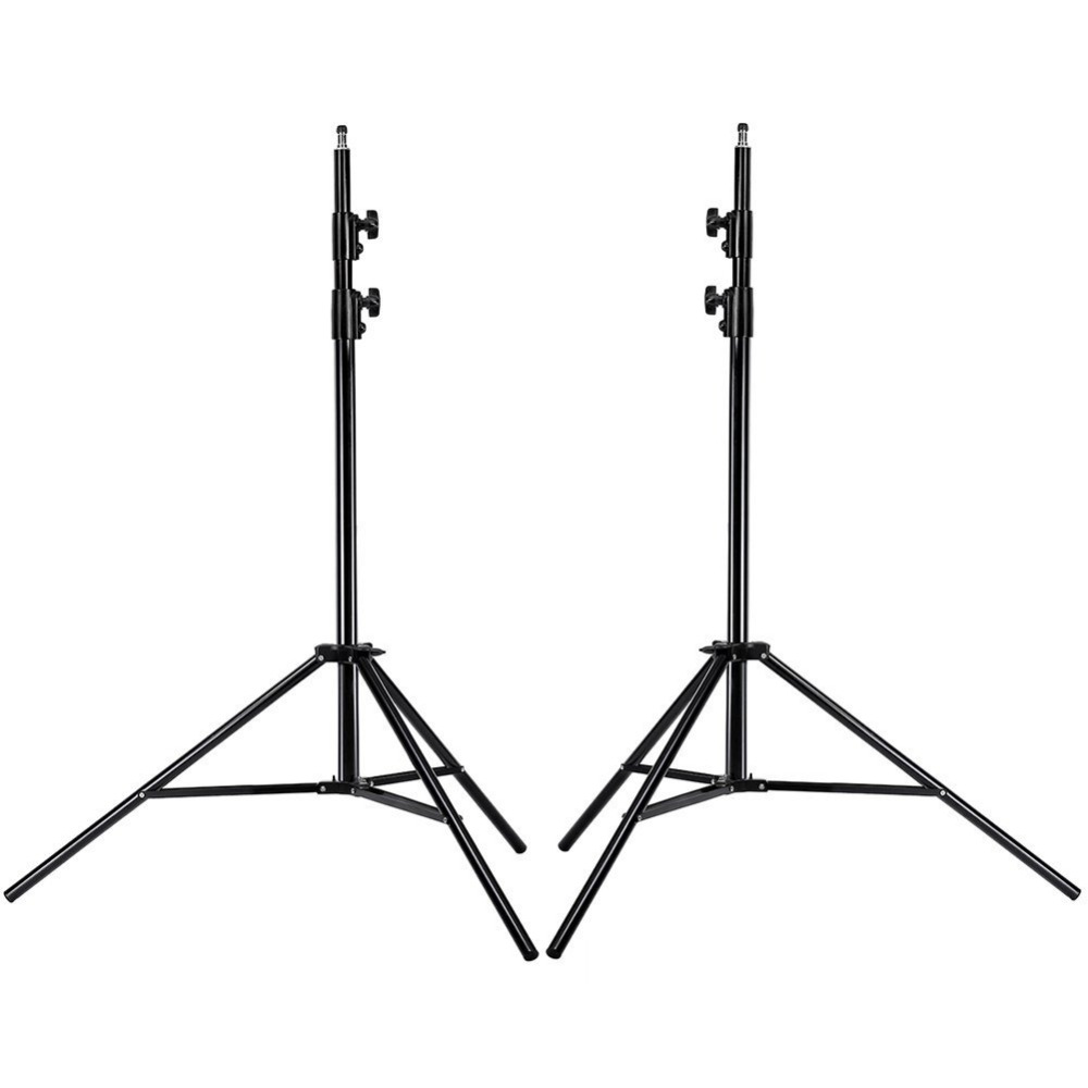Neewer 2 Pcs Tripod 9 Feet/260cm Aluminum Alloy Light Stands Kit for Photography Photo Studio Video Portrait Photography