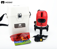 MOSKI ,5 laser lines 6 points laser level,work with power bank,360 degrees rotary tilt slash available auto line laser level