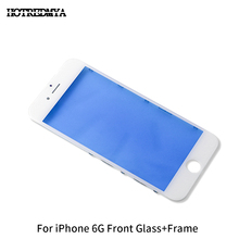 10Pcs/lot LCD Front Touch Screen Glass For iPhone 6 6G Outer Replace Glass With Frame Bezel Panels Digitizer Sensor Phone Parts все цены