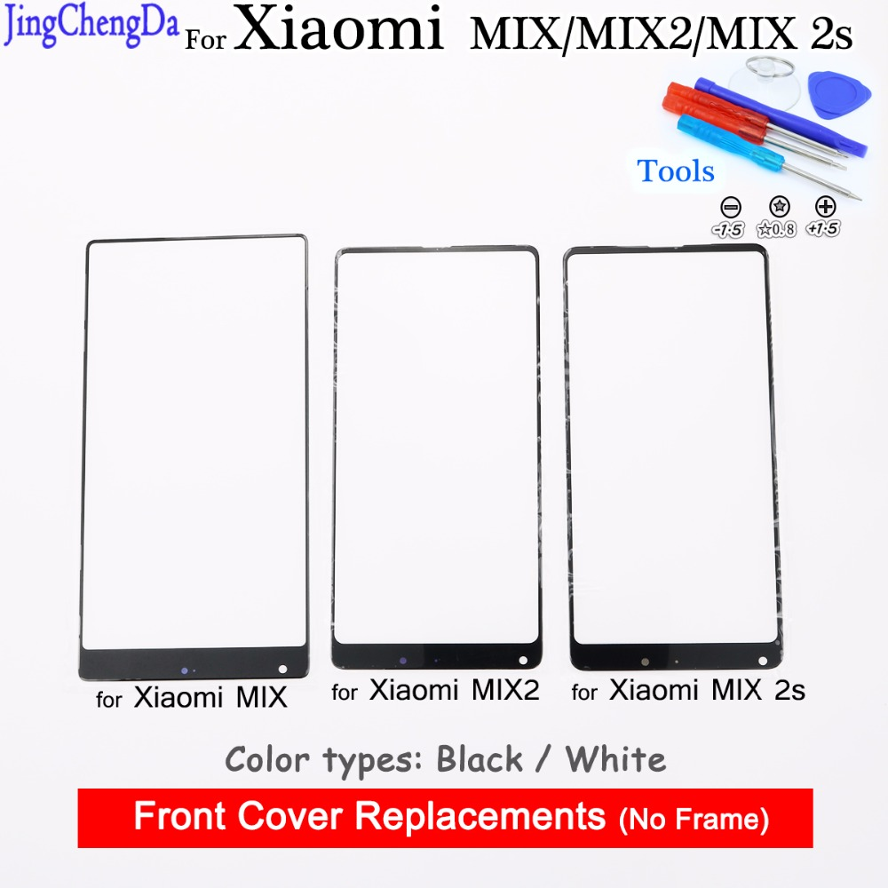 JCD For Xiaomi Mix MIX2 Outer Glass Lens Replacement Part for Xiaomi MIX 2s touch screen Front Glass lens Cover Mi Mix
