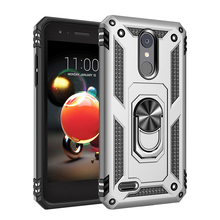 Armor Resistant Bracket Anti Scratch TPU+PC 360° Rotating Case For LG Aristo 2 3 Shock proof