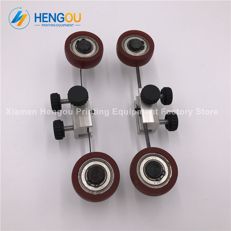 1 Pair Komori printer spare parts complete KOMORI Printing machine wheel feeder wheel Length 19.2cm high quality r200 feeder clutch roland 200 printing machine compatible parts
