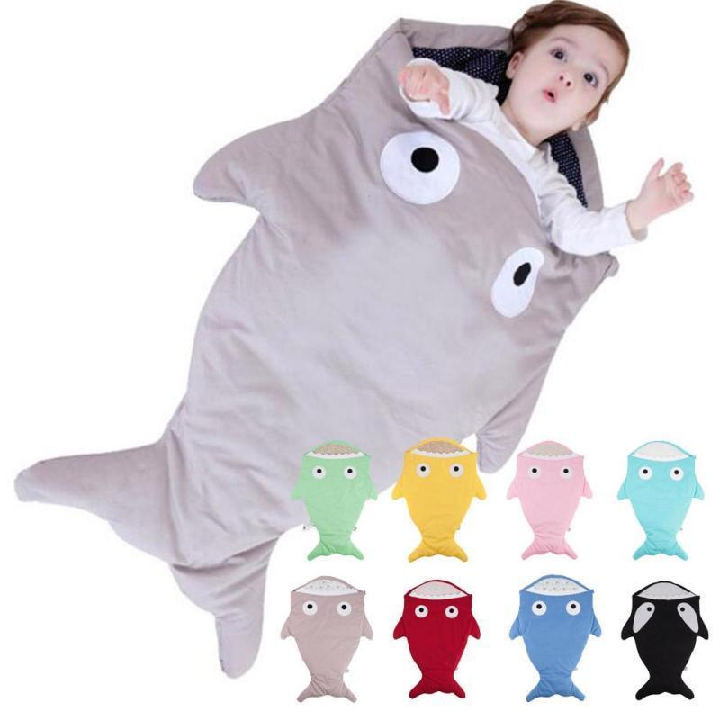 Insular baby sleeping bag winter shark shape infant stroller sleeping bag baby sleep sack envelopes for newborns bedding D3