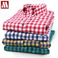 Free shipping Hot Grinding flannel plaid shirt Men's Casual Slim fit Stylish Dress Shirts Long Sleeve Shirts for Men S-XXXXL